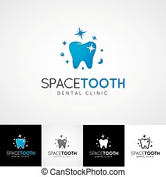 Dental logo template. Teethcare icon set. dentist clinic insignia, orthodontist illustration, teeth vector design, oral hygienist concept for stationary, tooth branding t-shirts picture, business card graphic