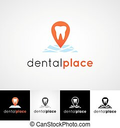 Creative dental logo design. Teethcare icon set. dentist...