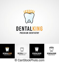 Teethcare logo template. dental icon set. dentist clinic insignia, orthodontist illustration, teeth vector design, oral hygienist concept for stationary, tooth branding t-shirts picture, business card graphic