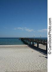 Pier of HeiligendammBaltic Sea in glorious summer weather