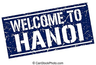 welcome to Hanoi stamp
