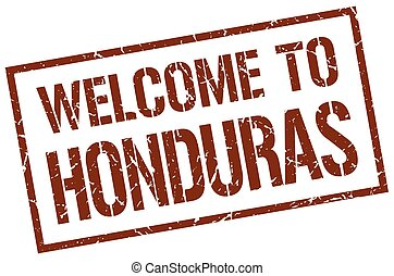 welcome to Honduras stamp