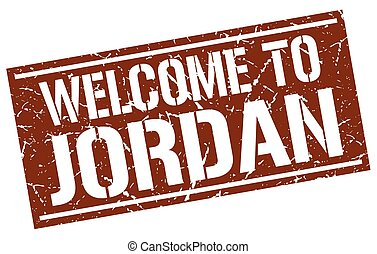 welcome to Jordan stamp