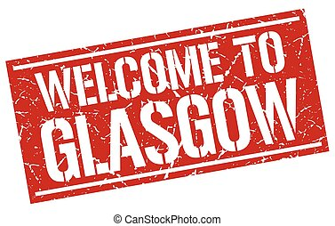 welcome to Glasgow stamp