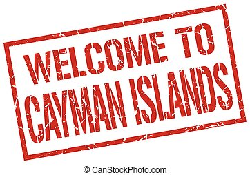 welcome to Cayman Islands stamp