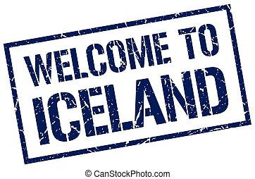 welcome to Iceland stamp