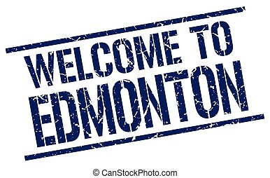 welcome to Edmonton stamp