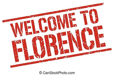 welcome to Florence stamp