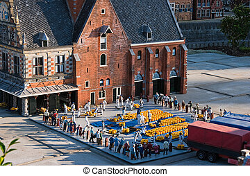 Evening light in Madurodam - Madurodam: miniature city in...
