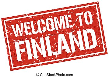 welcome to Finland stamp