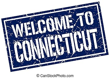welcome to Connecticut stamp