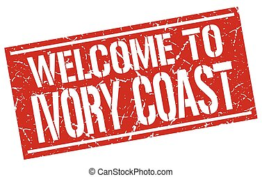 welcome to Ivory Coast stamp