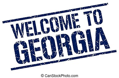 welcome to Georgia stamp