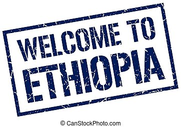 welcome to Ethiopia stamp