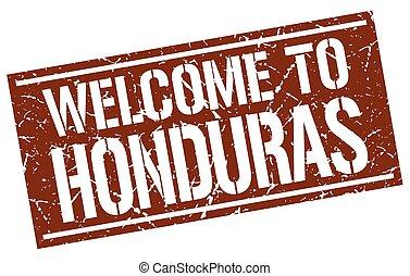 welcome to Honduras stamp