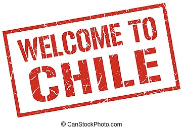 welcome to Chile stamp