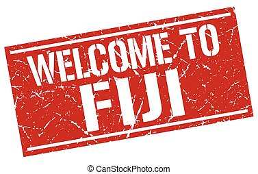 welcome to Fiji stamp