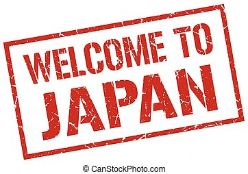 welcome to Japan stamp