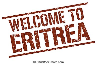 welcome to Eritrea stamp