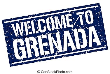 welcome to Grenada stamp