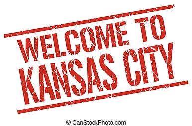 welcome to Kansas City stamp