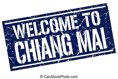 welcome to Chiang mai stamp