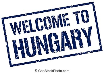 welcome to Hungary stamp