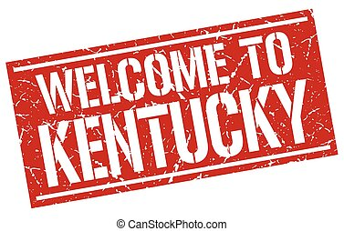 welcome to Kentucky stamp