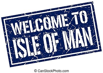 welcome to Isle Of Man stamp