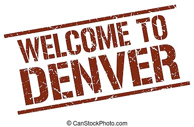 welcome to Denver stamp