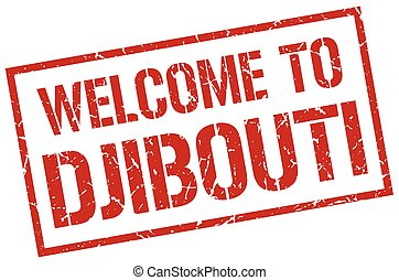 welcome to Djibouti stamp
