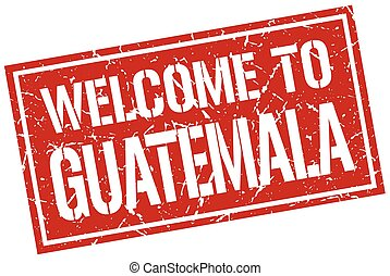 welcome to Guatemala stamp