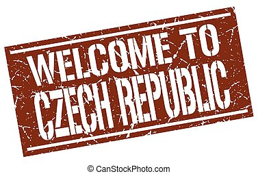 welcome to Czech Republic stamp