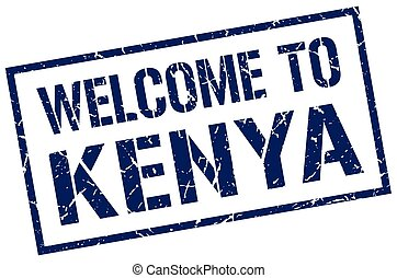 welcome to Kenya stamp