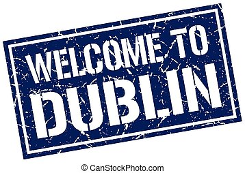 welcome to Dublin stamp
