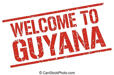 welcome to Guyana stamp