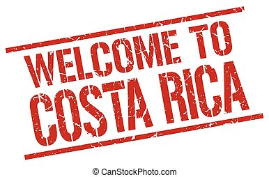 welcome to Costa Rica stamp