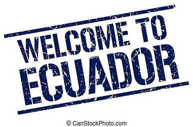 welcome to Ecuador stamp