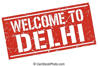 welcome to Delhi stamp