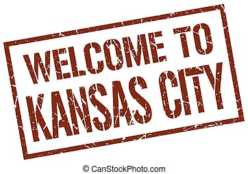 welcome to Kansas City stamp