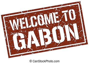 welcome to Gabon stamp