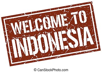 welcome to Indonesia stamp