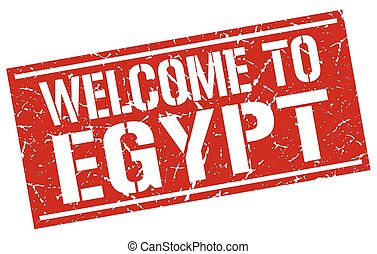 welcome to Egypt stamp