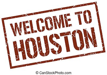 welcome to Houston stamp