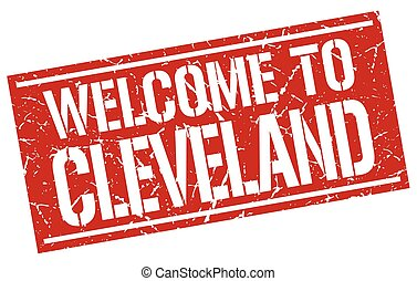welcome to Cleveland stamp