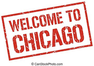welcome to Chicago stamp