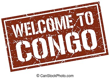 welcome to Congo stamp