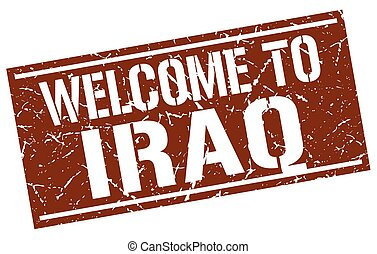 welcome to Iraq stamp