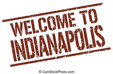 welcome to Indianapolis stamp