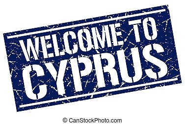 welcome to Cyprus stamp